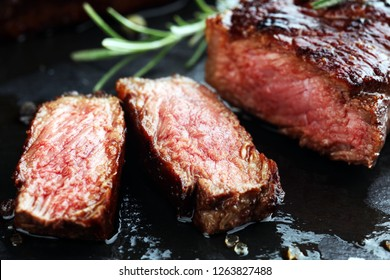 Barbecue Rib Eye Steak or rump steak - Dry Aged Wagyu Entrecote Steak