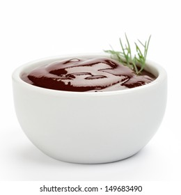 Barbecue sauce on a white background