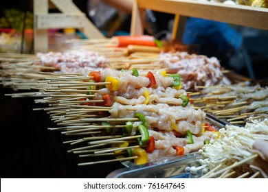 barbecue in a skewer