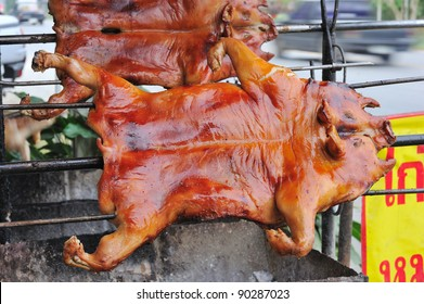 Barbecued suckling pig