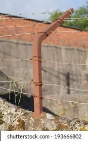 Barbed wire closeup