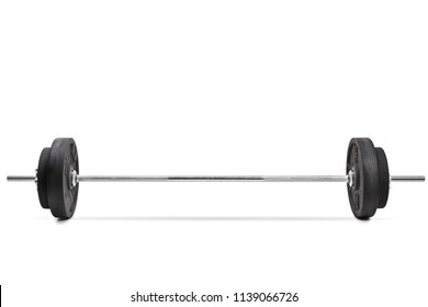 Barbell isolated on white background