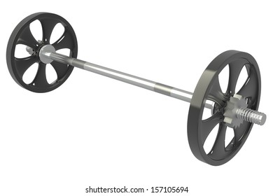 Barbell. isolated. white background. 3d