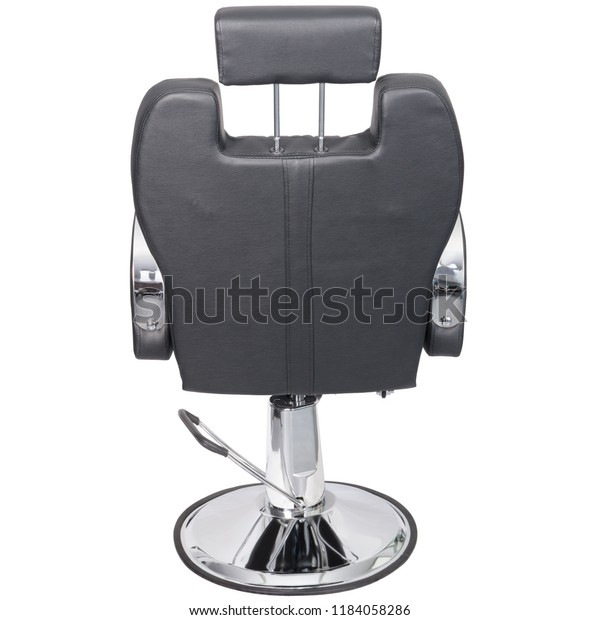 Wondrous Barber Chair Black Leather Back View Stock Photo Edit Now Gmtry Best Dining Table And Chair Ideas Images Gmtryco