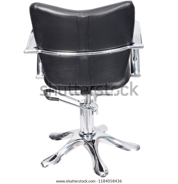 Sensational Barber Chair Black Leather Back View Stock Photo Edit Now Gmtry Best Dining Table And Chair Ideas Images Gmtryco