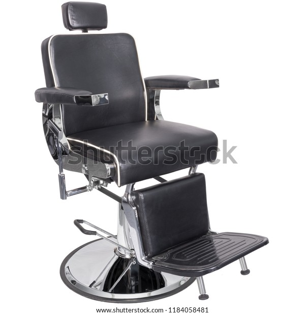 Fantastic Barber Chair Black Leather Diagonal View Stock Photo Edit Gmtry Best Dining Table And Chair Ideas Images Gmtryco