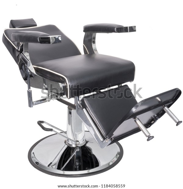 Remarkable Barber Chair Black Leather Diagonal View Stock Photo Edit Gmtry Best Dining Table And Chair Ideas Images Gmtryco