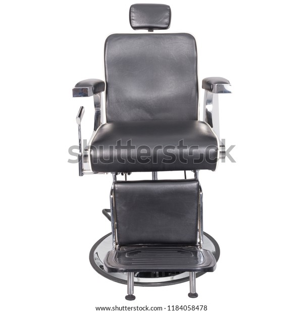 Outstanding Barber Chair Black Leather Front View Stock Photo Edit Now Gmtry Best Dining Table And Chair Ideas Images Gmtryco