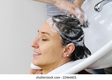Barber makes a hair-dress