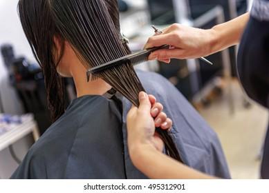 barber making a haircut