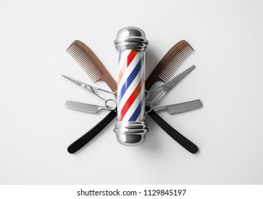 Barber shop pole background concept