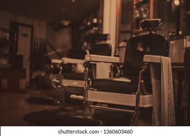 Barber Shop Vintage old school chairs