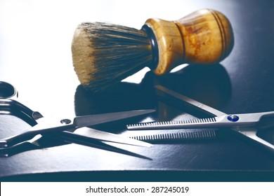 a barber tool close up