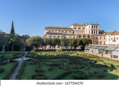 Barberini Palace (Palazzo Barberini), a papal residence of the Baroque period, famous for false perspective windows, Cortona's painted ceiling and Bernini's helicoidal staircases, in Rome, Italy