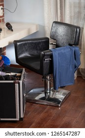 Barbershop armchair. Tools and combs in barbershop