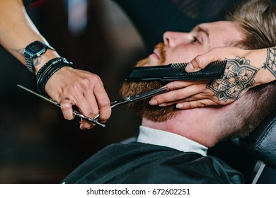 Barbershop, beard styling