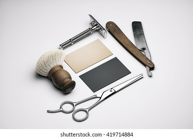 Barbershop branding mockup