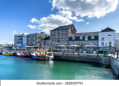 Barbican Marina in Plymouth Devon in England