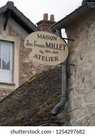 Barbizon/France - August 20 2016: Jean-François Millet workshop. Jean-François Millet was a French painter and one of the founders of the Barbizon school in rural France.