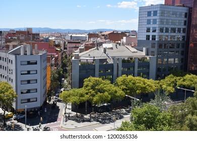 Barceloa city urban landscape