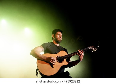 BARCELONA - APR 21: Rodrigo y Gabriela (band from Mexico) in concert at Razzmatazz stage on April 21, 2016 in Barcelona, Spain.