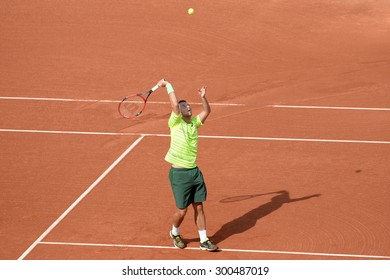 BARCELONA - APR 24: Philipp Kohlschreiber (tennis player from Germany) celebrates a victory at the ATP Barcelona Open Banc Sabadell Conde de Godo tournament on April 24, 2015 in Barcelona, Spain.