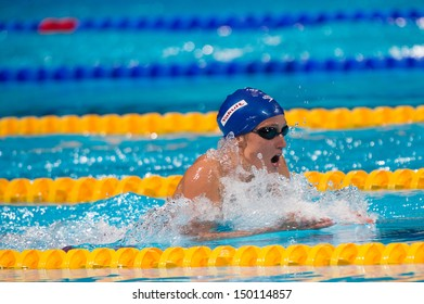 BARCELONA - AUGUST  4:   Mireia Belmonte ( Spain)  in action during Barcelona FINA World Swimming Championships on August 4, 2013 in Barcelona, Spain