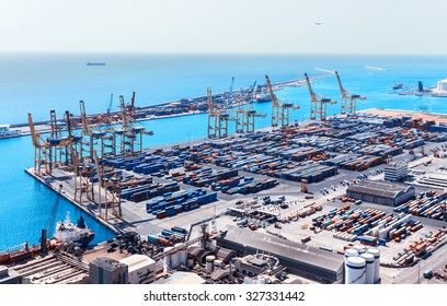 Barcelona Cargo Port Terminals Transport and Facilities At The Docks.