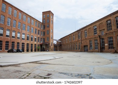 BARCELONA, CATALONIA, SPAIN - APRIL 29, 2016: Old important textile factory, which occupied a large part of Sant Andreu. Currently this space is a public school and a cultural center