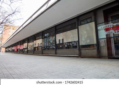 BARCELONA, CATALONIA, SPAIN - APRIL 29, 2016: Sant Andreu popular culture center. Formerly this space was occupied by a textile factory