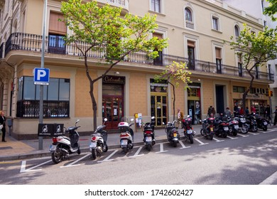 BARCELONA, CATALONIA, SPAIN - APRIL 29, 2016: Centennial bar in the Sant Andreu neighborhood in Barcelona. At the intersection of Gran de Sant Andreu street with Fabra i Puig street