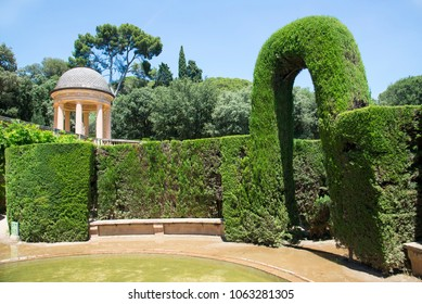 BARCELONA, CATALONIA / SPAIN - JUNE 10, 2017: The Parc del Laberint d'Horta, Barcelona