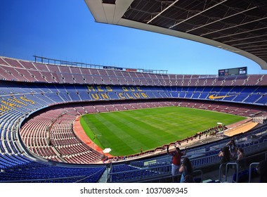 BARCELONA, CATALONIA, SPAIN- June 14, 2016. The Camp Nou, the football stadium of FC Barcelona.