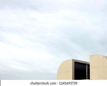Barcelona, Catalonia, Spain - Spain-December 17. 2012. Joan Miro Foundation, Fundacio Miro, exterior building designed by Josep Lluis Sert in Montjuic park of Barcelona