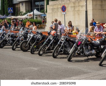 BARCELONA, CATALONIA/SPAIN - JULY 4TH, 5TH AND 6TH 2014: Barcelona Harley Days 2014 takes place in the city, it's the biggest Harley Davidson festival in Europe.