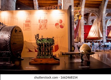 Barcelona, Catalonia/Spain; September,06 2019:the maritime museum is one of the most imaginative museum of Catalonia