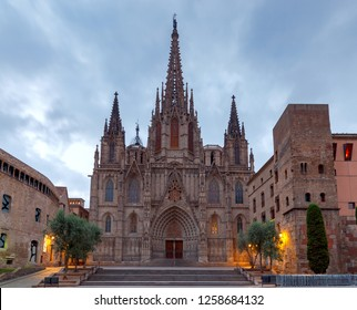 Barcelona. The Cathedral at dawn.
