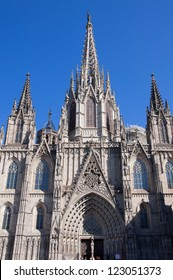 Barcelona Cathedral in the Gothic Quarter.