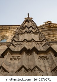 Barcelona Cathedral in gothic quarter in the center of Barcelona. Spain.