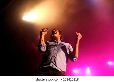 BARCELONA - DEC 10: Friendly Fires band performs at Razzmatazz on December 10, 2011 in Barcelona, Spain.