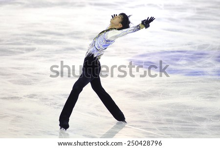 BARCELONA - DEC, 13: Yuzuru Hanyu of Japan during Men Free Skating event of ISU Grand Prix of Figure Skating Final 2014 at CCIB on December 13, 2014 in Barcelona, Spain