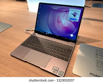 Barcelona, Espana 25 February 2019  Huawei Matebook 13 14