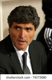 BARCELONA - FEB 28: Juande Ramos manager of Real Madrid during Spanish league match between Espanyol and Real Madrid at the Montjuic Olympic Stadium on February 28, 2009 in Barcelona, Spain