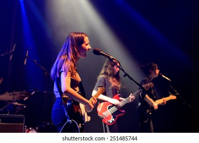 BARCELONA - FEB 8: Mourn (band) performs at Apolo venue on February 8, 2015 in Barcelona, Spain.
