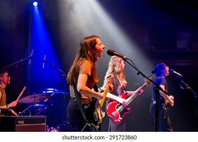 BARCELONA - FEB 8: Mourn (band) in concert at Apolo venue on February 8, 2015 in Barcelona, Spain.