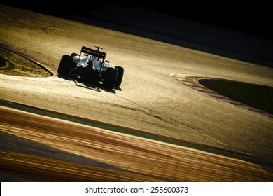 BARCELONA - FEBRUARY 20: Carlos Sainz Jr of Scuderia Toro Rosso F1 team at Formula One Test Days at Catalunya circuit on February 20, 2015 in Barcelona, Spain.