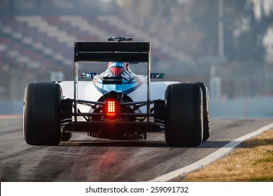 BARCELONA - FEBRUARY 20: Felipe Massa of Williams Martini Racing F1 team at Formula One Test Days at Catalunya circuit on February 20, 2015 in Barcelona, Spain.
