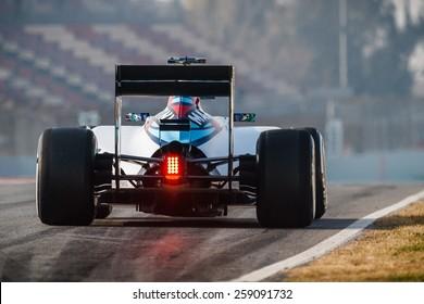 BARCELONA - FEBRUARY 20: Felipe Massa of Williams Martini Racing F1 team at Formula One Test Days at Catalunya circuit on February 20, 2015 in Barcelona, Spain.