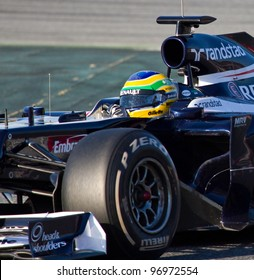 BARCELONA - FEBRUARY 21: Bruno Senna of Williams F1 team races during Formula One Teams Test Days at Catalunya circuit on February 21, 2012 in Barcelona, Spain.