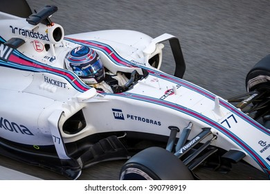 BARCELONA - FEBRUARY 22: Valtteri Bottas of Williams F1 Team at Formula One Test Days at Catalunya circuit on February 22, 2016 in Barcelona, Spain.